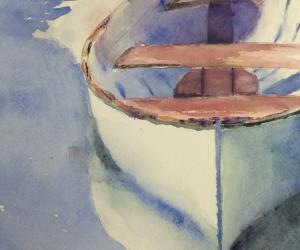 Docked Canoe